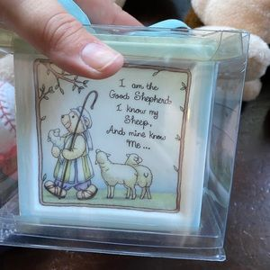 Christening decorative cube